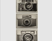 Three Photographs of Vintage 1960s Cameras. All 5x7 for Instant Digital Download Art to Print and Home