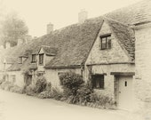 Cotswold Cottages - Vintage Style Photo to Print in 5 Sizes. Instant Digital Download in 5 Sizes. Instant Photo Download