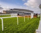 Ascot Racecourse & Grandstand. (Empty, no crowd). Berkshire, England. Digital Download in Four Sizes. Instant Digital Download