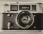 Digital Download Fed 4 Vintage Russian Camera Photograph, Vintage Effect, Fed4. Instant Digital Download Photo