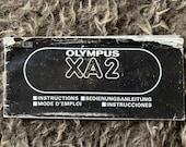 Olympus XA2 Instruction Manual  - original copy.