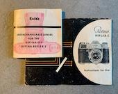 Instruction Manual for Kodak Retina Reflex S plus Lens Booklet in good condition