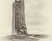 Vintage Victoria Tower, Castle Hill. Huddersfield, Yorkshire, England. Instant Digital Download in 5 Sizes.