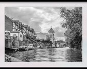 Download a Black and White Photograph of the River Thames near Maidenhead. Set of Four Sizes