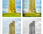Victoria Tower, Castle Hill. Huddersfield, Yorkshire. Four Different Designs to Print at Home. Instant Digital Download to Enjoy