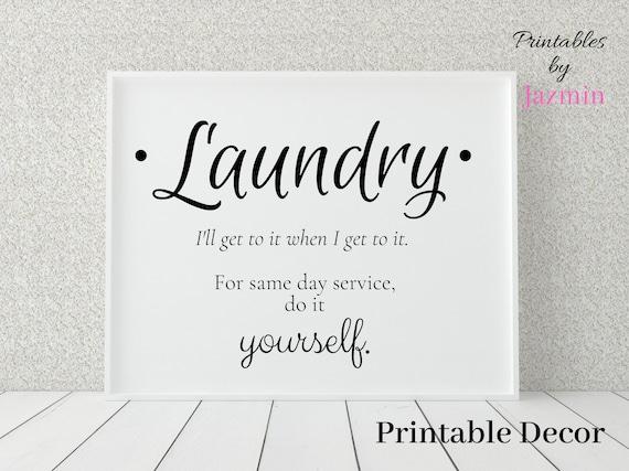 Laundry Room Wall Decor Printable Funny Laundry Room Signs Etsy