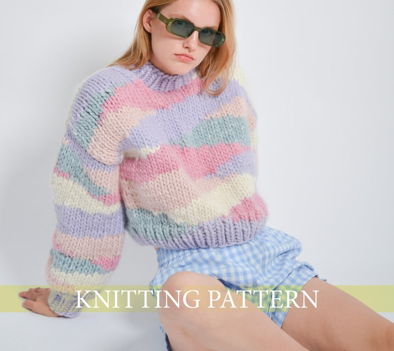 Jellybean Sweater Knitting Pattern ENGLISH image 1