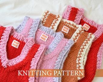 Vicky's Vest Knitting Pattern (ENGLISH)