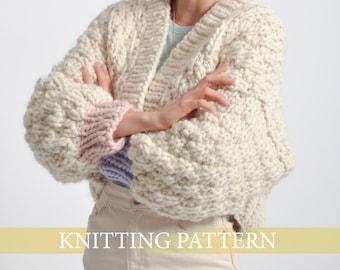 Peony Cardigan Knitting Pattern (ENGLISH)