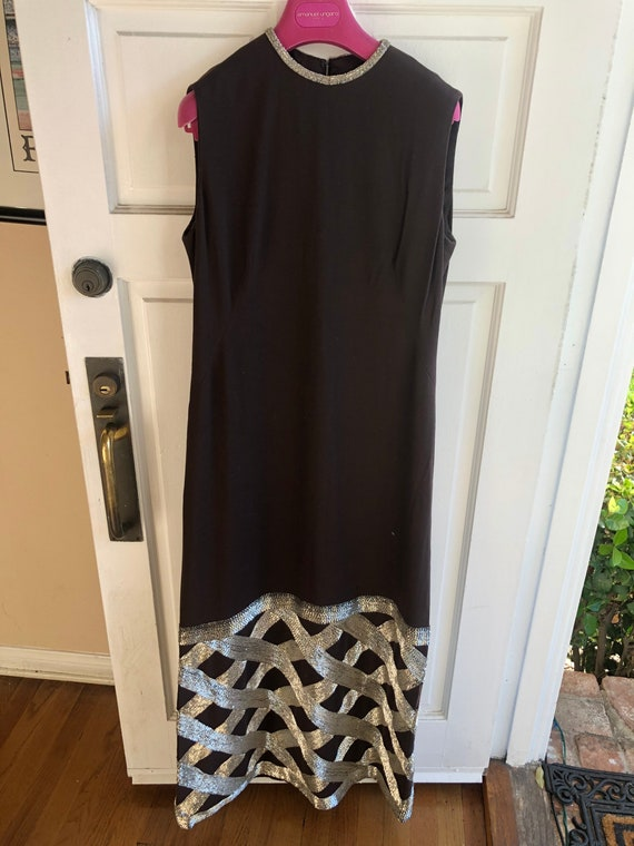 Vintage Donald Brooks beaded gown