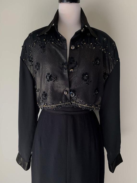 VINTAGE Statement 90s Designer Style Black and Go… - image 5