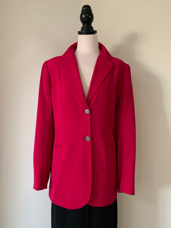 VINTAGE Escada-Style 90s Y2K Hot Pink Blazer