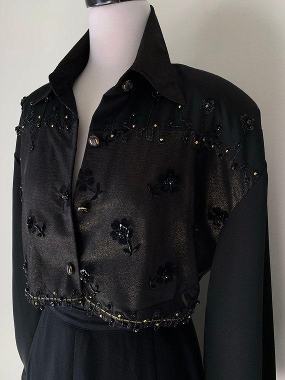 VINTAGE Statement 90s Designer Style Black and Go… - image 6
