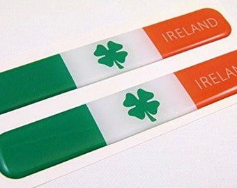 Ireland Decal Irish Flag Car Chrome Emblem Sticker