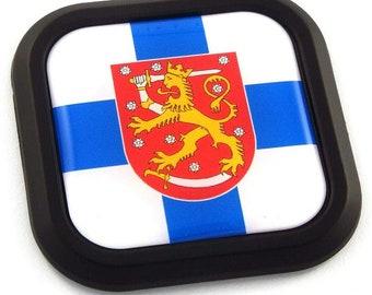 Bulgaria Flag Square Black rim Emblem Car 3D Decal Badge Hood Bumper sticker 2