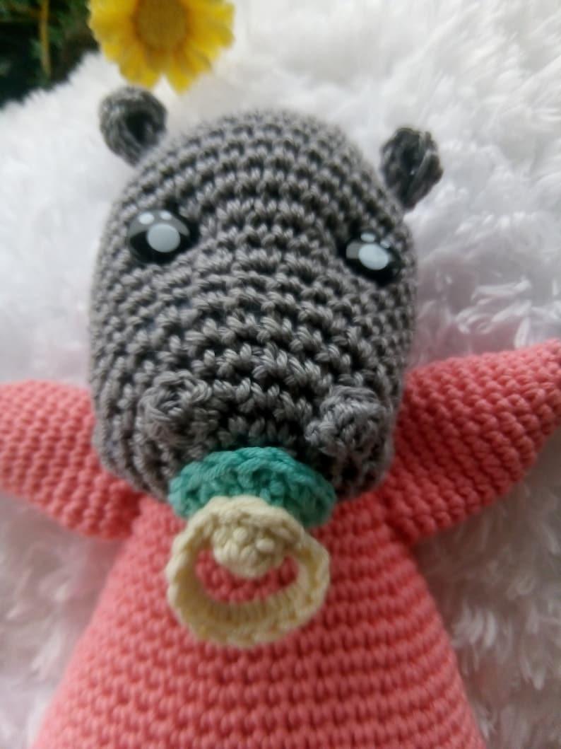 Doudou hippopotamus handmade