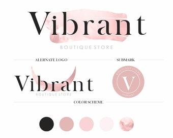 Minimalist Logo Branding Kit, Boutique Store Logo Branding Package, Feminine Logo Design, Fashion Custom Logo, Modern Logo Set
