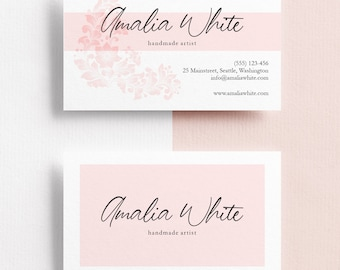 Business Card Template, Minimalist Business Cards - Customized & UNLIMITED TEXT MODIFICATIONS