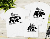 Family Matching Outfit Shirt PartnerLook Bear Mom Dad Baby Gift Idea