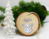 Christmas Pendant Pendant Wooden Pendant Decoration Personalized First Christmas Best Grandma