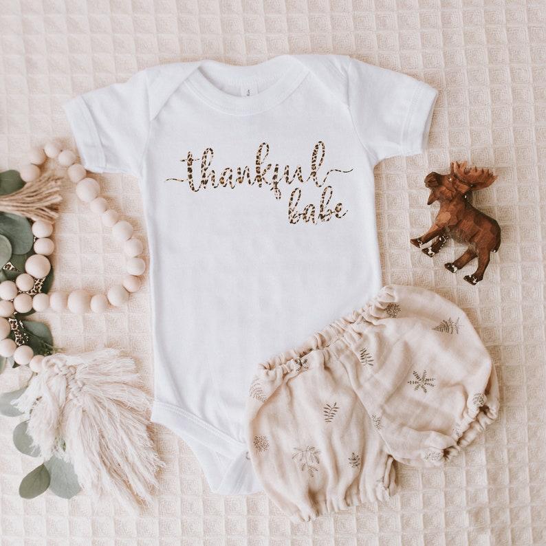 Thankful babe Thanksgiving onesie