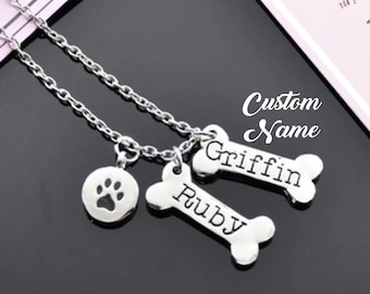 Crazy dog lady bone necklace  bone jewellery  pet jewellery  dog jewellery  animal jewellery  animal lover gift