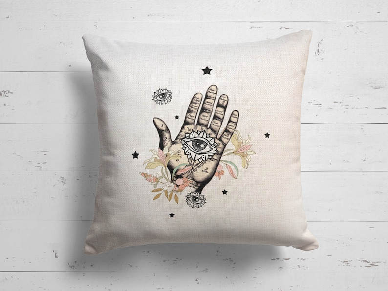 Palmistry Pillow Case Custom Pillow Personalized Names Throw Pillow Cover Housewarming Gift Customized Pillow Cover