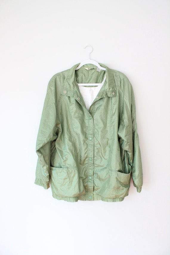 Haband Pearl Green Vintage Raincoat Size XL
