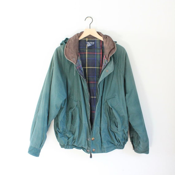 Vintage Hooded Nautica Jacket, Size Large