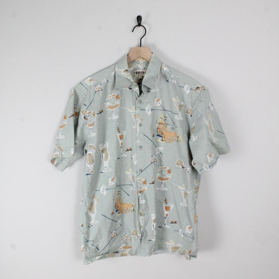 Vintage 90s Short Sleeve Button Down, Size Large,