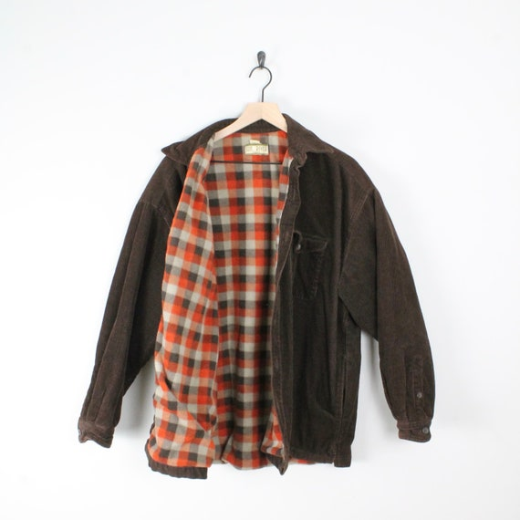 Vintage Flannel Lined Corduroy Jacket, Size Large