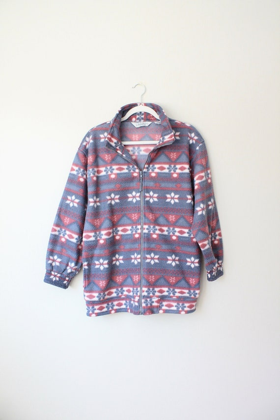 Vintage Fleece Jacket, Women's Size Medium, Haband