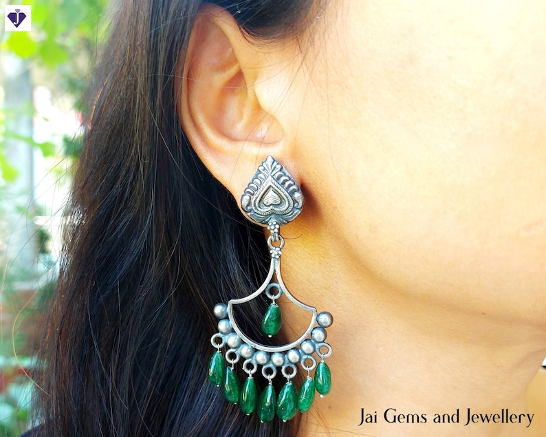 Oxidised Silver Earrings for Women and Girls