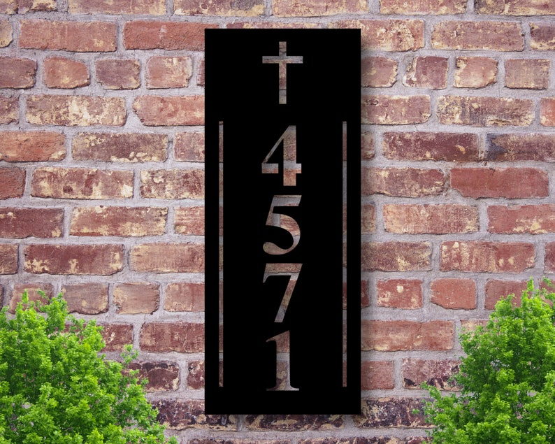 Address Plaque Front Porch Decor Custom Metal Address Sign Address Signs Address Sign House Number Plaque Custom Metal Address Sign