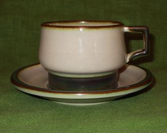 Beige with Blue Brown Green Set of BG Made in Denmark 624 3 Dinner Plates Vintage Bing /& Grondahl Tema Stoneware