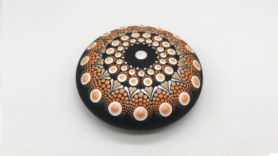 Halloween Mandala Rocks Stones Dot Painting Art Free Shipping - Hand Painted Rock - Paperweight  -  Mandala stone