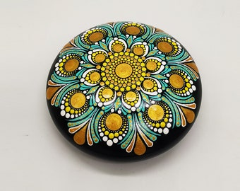 Painted Mandala Stones | Paperweights | Mandala Dot Art | Painted Rocks | Mandala Rocks | Stone Mandalas | Stone Painting | Rock Art