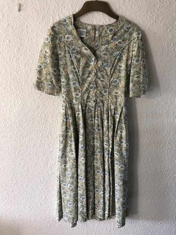 LAURA ASHLEY DRESS | Vintage 1980s Laura Ashley Fl