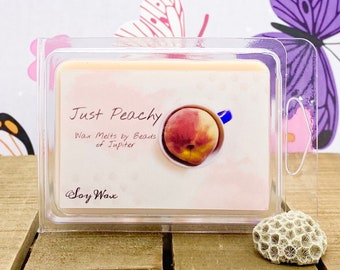 Scented Soy Wax Melt Peach Scented Wax Melt Peaches Wax Melts Peach Scent Peach Wax Melt Wax Tart Soy Wax Just Peachy