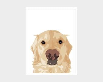 Pet portrait - Custom downloadable 18x24