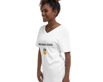 Unisex White V-Neck T-Shirt
