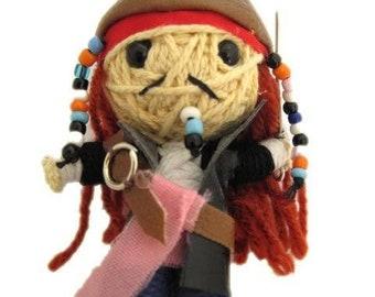 Rick  Walking Dead  Voodoo String Doll Keychain Ornament Accessory Handmade