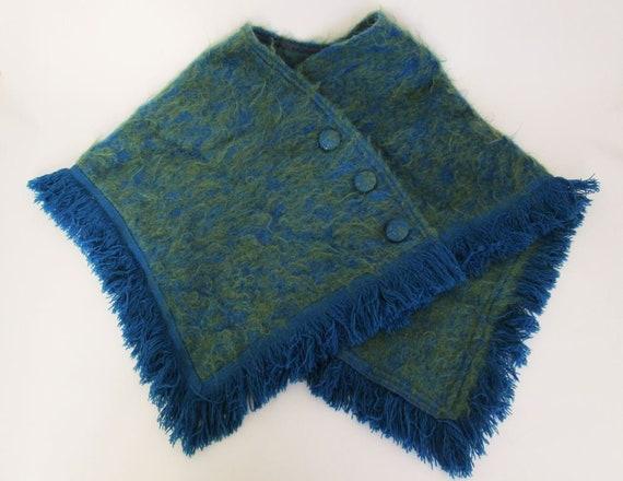Vintage Mohair Cape, woven by Lochcarron of Scotla