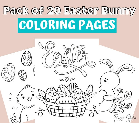 Easter Coloring Pages Easter Printables Easter Bunny