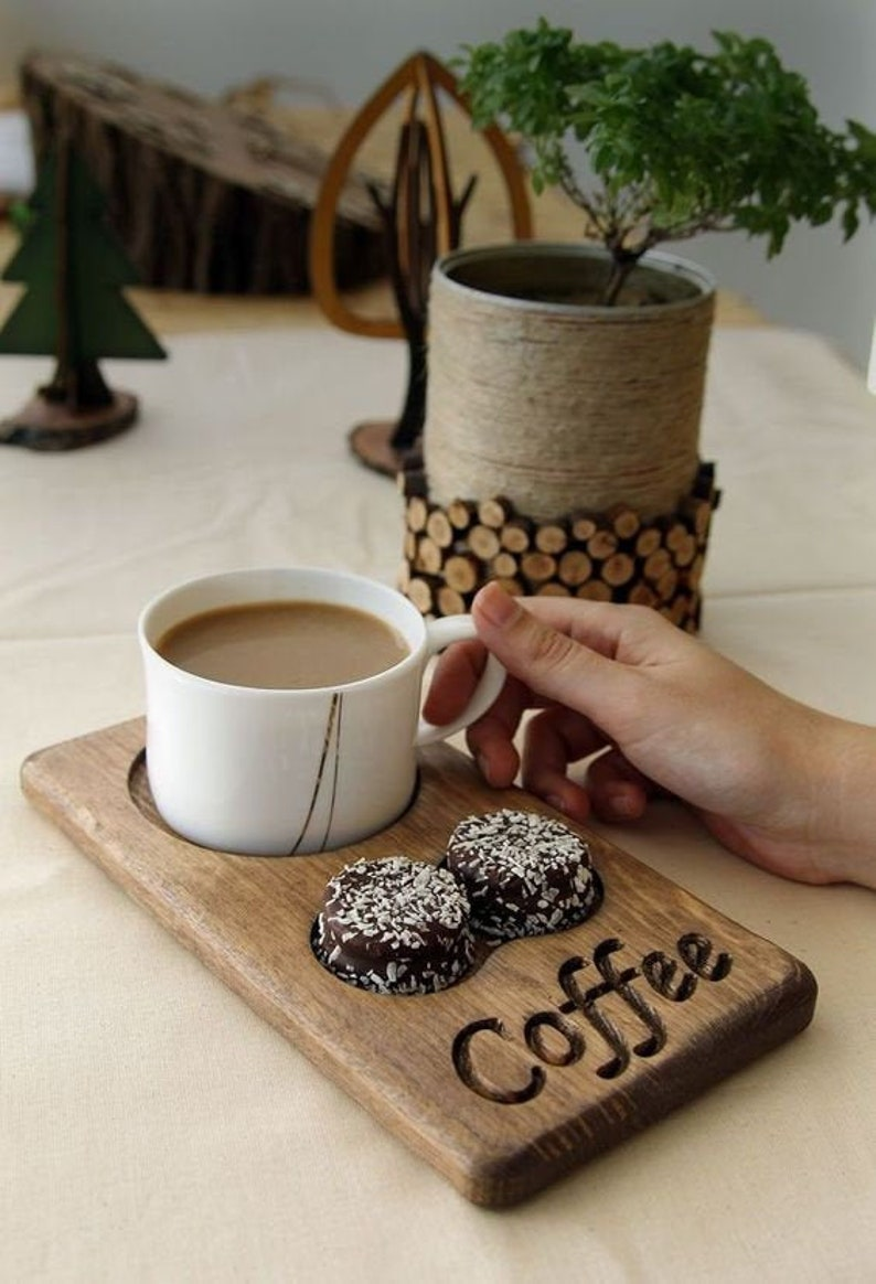 Coffee & Tea Serving Tray/Wooden Tray/Coffee Tray/Coffee image 0