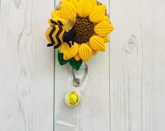 HoneyBee and Sunflower themed badge reel
