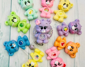 Adorable Care Bear* Themed badge reel! Pick your bear!