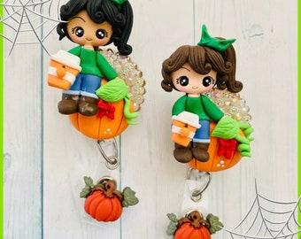 Pumpkin spice fall loving cuties badge reel
