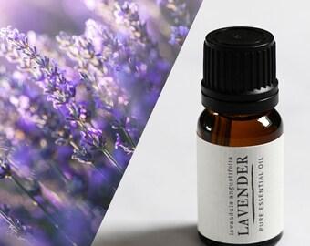 Lavender essential oil UK. Therapeutic grade aromatherapy lavender oil 10ml bottle.