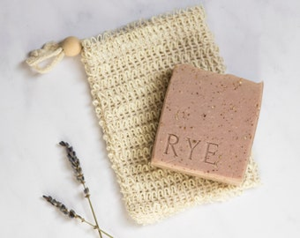 Exfoliating jute soap saver bag. Eco-friendly gift. Natural gifts. Natural gifts.